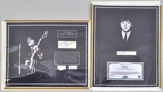 Beatles Memorabilia, P. McCartney & G. Harrison