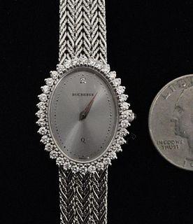 18K Gold & Diamond Bucherer Ladies Wrist Watch