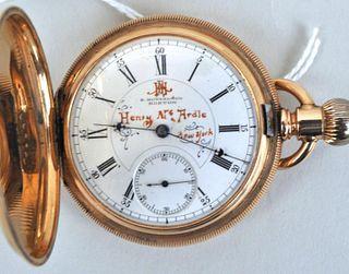E. Howard 14K Gold Hunter Case Pocket Watch