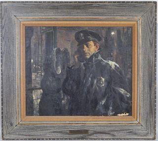"""Ben Stahl, O/C """"The Policeman"""" Illustration"""
