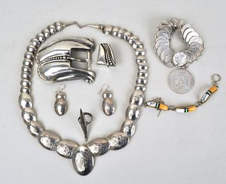 Group Silver Native American/Mexican Jewelry