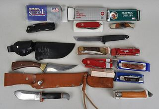 Large Group Vintage Pocket Knives