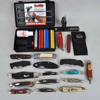 Large Lot Vintage Pocket Knives