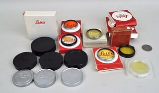 Group of Leica Lens Caps & Accessories