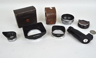 Group of Camera Eyecups and Lens Hoods