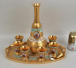 Le Mieux 24K Gold Decorated Cordial Service