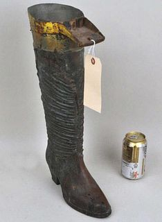 Folk Art Boot Form Trade Sign