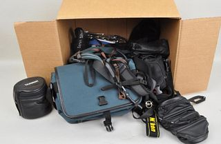 Large Group of Camera Straps and Cases