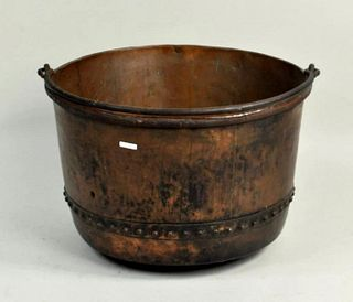 Very Large Antique Copper Kettle