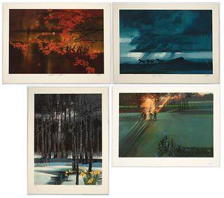 "Robert Peak, Four Prints from ""Spirit of Sport"" Portfolio, 1983"