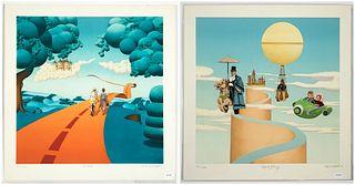 Michel Pellus, Two Lithographs