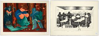 Michael Osterweil, Two Lithographs