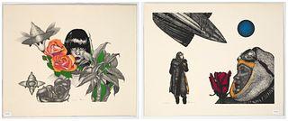 Paul Van Hoeydonck, Two Lithographs
