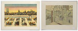 Jack Eaker, Two Lithographs