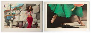 Glenda Green, Two Lithographs
