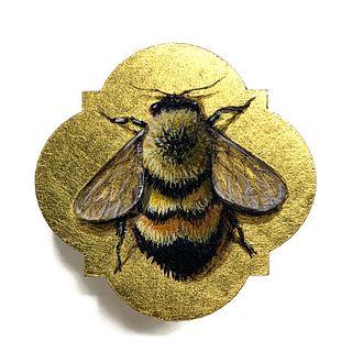 Bumblebee Painted Pin