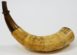 Powder Horn Identified to Moses Comstock