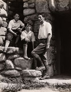 EDWARD WESTON - Robinson Jeffers and Sons, Hawk Tower, 1929