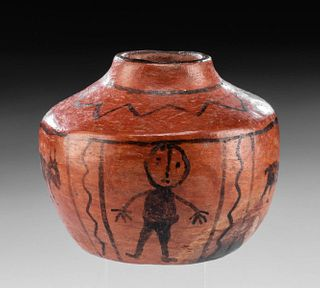 Maricopa Pottery Jar w/ Painted Motif