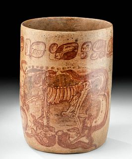 Important Maya Pottery Cylinder Vessel - Kerr Database