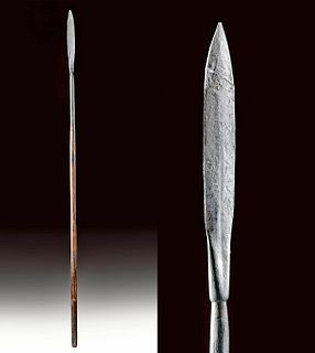 Late 18th C. Spanish Colonial Wood & Iron Spear
