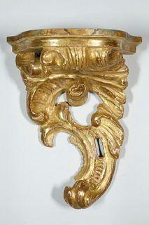 SINGLE 19TH C. ITALIAN BRACKET SHELF