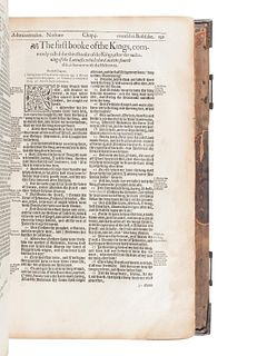 [BIBLE, in English]. The Holy Bible. London: Deputies of Christopher Barker, 1595.