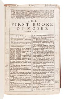 "[BIBLE, in English]. The Holy Bible, Conteyning the Old Testament, and the New""¦ London: Robert Barker, 1611."