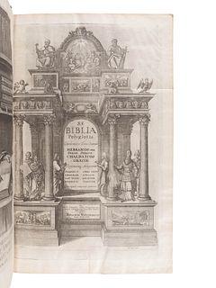 [BIBLE, Polyglot]. Biblia sacra polyglotta. Edited by Brian Walton. London: Thomas Roycroft, 1655-57.