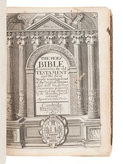 [BIBLE, in English]. The Holy Bible Containing the Old Testament and the New. -- Index Biblicus: or an Exact Concordance to the Holy Bible. -- The Who