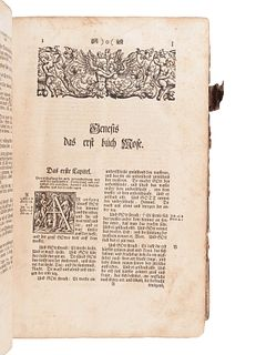 "[BIBLE, in German]. Die gantze Bibel""¦ Strassburg: Simon Kurtzner, 1744."
