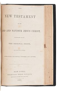 [BIBLES - AMERICAN BIBLE SOCIETY]. A group of 4 Bibles, comprising:
