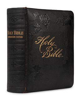 [BIBLES - 19th CENTURY]. A group of 5 Bibles, comprising: