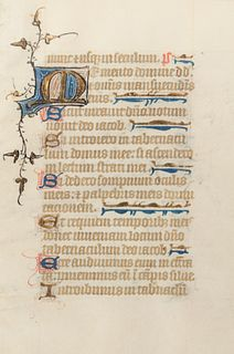 [MANUSCRIPT LEAF -- PSALTER]. One leaf on vellum, in Latin. [England], ca 1420-1440.