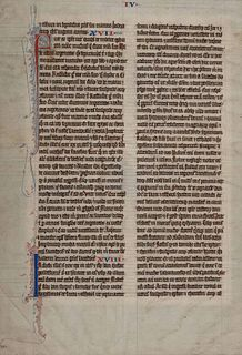 [MANUSCRIPT LEAF -- BIBLE]. One leaf on vellum, in Latin. Germany, ca. 1425.