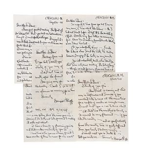 O'KEEFFE, Georgia (1887-1986). A group of 9 letters to Jean Ledoux, 1944-1951.