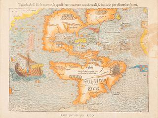 [AMERICAS] -- MUENSTER, Sebastian (1489-1552). Tavola dell'isole noue. Basel, ca 1550.