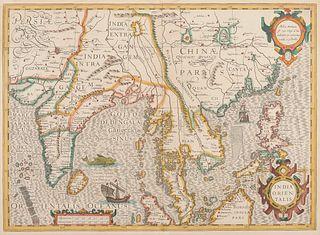 [CHINA & SOUTHEAST ASIA] -- HONDIUS, Jodocus (1563-1611). India Orientalis. [Amsterdam, ca 1606-27].