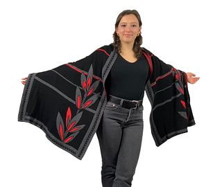 English Flower: 100% Egyptian Cotton Knit Wrap Shawl Scarf