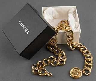 Chanel Gold-Tone Metal Link Belt