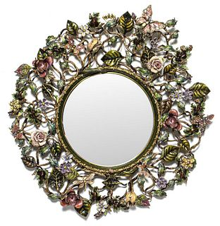 Jay Strongwater Large Enameled Wall Mirror
