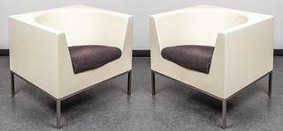 Massimo Vignelli Mid-Century Modern Cube Chair, Pr
