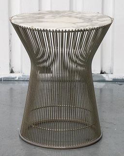 Warren Platner for Knoll Marble & Steel Side Table