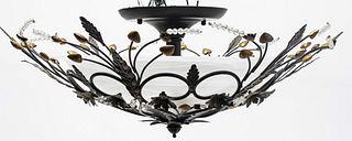 Art Nouveau Style Floral Pendant Chandelier