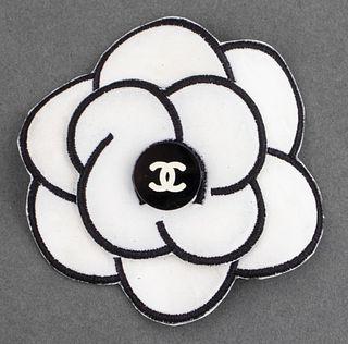 Vintage Chanel White Camellia Flower Brooch