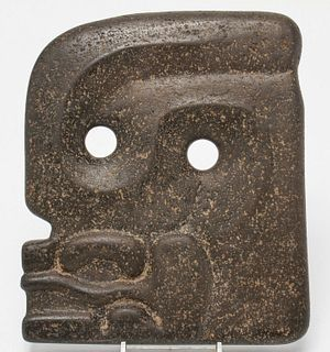 Pre-Columbian Mayan Guatemalan Face Carved Stone