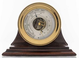 Chelsea Ship Bell Barometer On Mahogany Stand