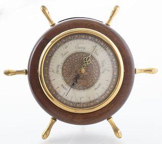 Wittnauer Nautical Ship Wheel Barometer