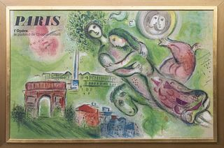 """Marc Chagall """"Romeo and Juliet"""" Exhibition Poster"""