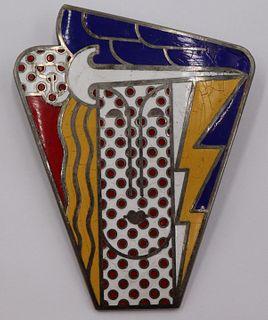 JEWELRY. Roy Lichtenstein Modern Head Enamel